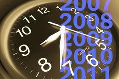 Horloge et ans de mur Photos stock