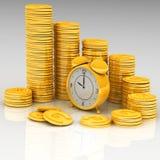Horloge et argent illustration libre de droits