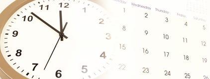 Horloge et calendrier Images stock