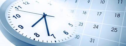 Horloge et calendrier photographie stock