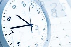 Horloge et calendrier Photographie stock libre de droits