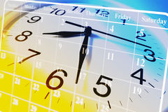 Horloge et calendrier Photo libre de droits