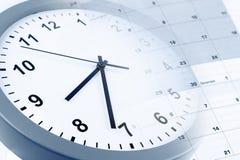 Horloge et calendrier photo stock