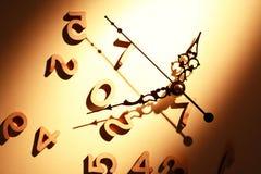 Horloge et chiffres Images libres de droits