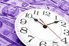 Horloge et dollars de mur Images libres de droits