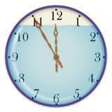 Horloge et eau Photographie stock libre de droits