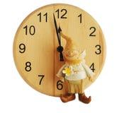 Horloge et gnome Photographie stock libre de droits