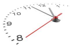 Horloge et horodateur avec des nombres Photos stock