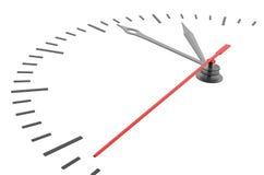 Horloge et horodateur sans nombres Photographie stock libre de droits