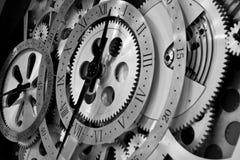 Horloge et trains Photo libre de droits