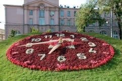 Horloge florale énorme Photographie stock libre de droits