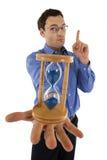 Horloge het - de tijd is bijna omhoog Stock Afbeelding