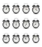 Horloge (heure 1-12) Images libres de droits
