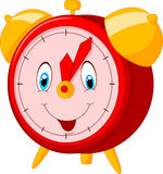 Horloge heureuse de bande dessinée Photo libre de droits
