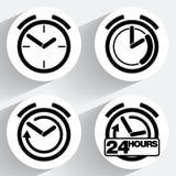 Horloge Icônes de vecteur pour le Web et les applications Illustration Stock