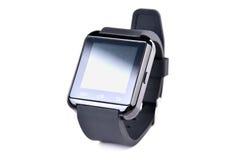 Horloge intelligente sur le fond blanc Image stock