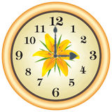 Horloge lilly Photo libre de droits