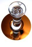 Horloge liquide en verre d'heure Photographie stock