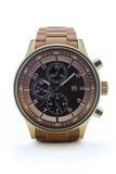 Horloge mécanique sur un fond blanc Image stock