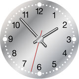 Horloge métallique illustration stock