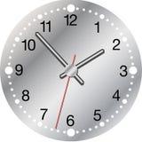 Horloge métallique Images stock