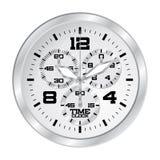 Horloge met chronograaf stock illustratie