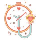 Horloge met diamanten Royalty-vrije Stock Foto