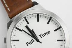 Horloge met Full-time tekst Stock Foto