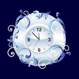 Horloge met ornament. Royalty-vrije Stock Afbeelding
