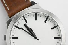 Horloge met ruimte voor eigen teksten Stock Foto's