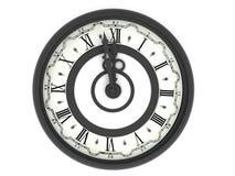 Horloge. Minuit Photos libres de droits