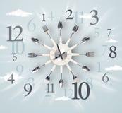 Horloge moderne avec des nombres du côté Photos libres de droits