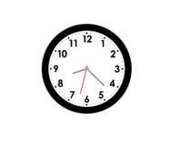 Horloge moderne d'isolement Photos libres de droits