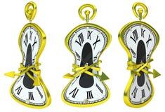 Horloge molle attachée Images libres de droits