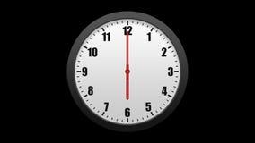 Horloge murale animée, d'isolement sur un fond noir Y compris l'alpha matte clips vidéos