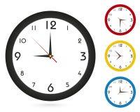Horloge murale classique simple, pour votre conception d'horloge illustration de vecteur