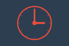 Horloge murale d'icône de temps illustration stock