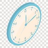 Horloge murale isométrique clockwise Le cadran lumineux illustration libre de droits