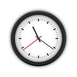 Horloge murale ronde simple Photographie stock