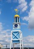 Horloge navale de chantier de construction navale de Halifax Photo libre de droits