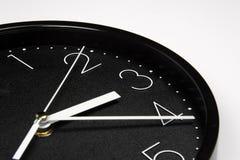 Horloge noire Photographie stock