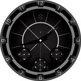 Horloge noire avec la conception agressive Images libres de droits