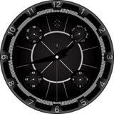 Horloge noire avec la conception agressive Photo libre de droits