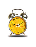 Horloge orange Photos libres de droits