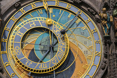 Horloge ou orloj astronomique de Prague images libres de droits