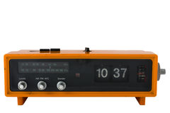 Horloge par radio orange de cru Image libre de droits
