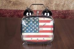 Horloge patriotique Photo libre de droits