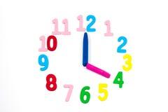 Horloge pour des enfants Image libre de droits