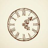 Horloge Retrait de vecteur Image libre de droits