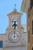 Horloge Rome d'église image libre de droits